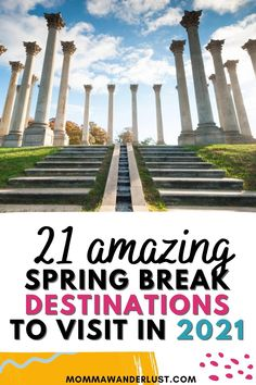 Need some ideas for your family's spring break in 2021? With travel restrictions still in place all over the world, domestic travel is more appealing than ever. Luckily, the United States is bursting with incredible destinations for the whole family to explore. From picturesque beaches to national parks, there's beauty to be seen and fun to be had all over the country. Here are the top 21 spring break destinations for families in 2021! Best Spring Break Destinations, Spring Break Vacations, Us Destinations, Family Vacation Destinations, Family Vacations, Vacation Ideas, Family Travel, Travel Goals, Travel Hacks