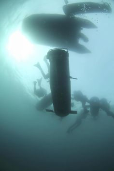 Finnish special forces diving in Nato´s Trident Juncture 2015