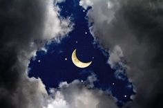 Moon and Stars, paint inspiration for the ceiling. I want to do this with really soft grays and pearl colors.