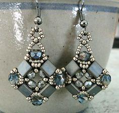 Linda's Crafty Inspirations: Lots of Layered Tila Earrings