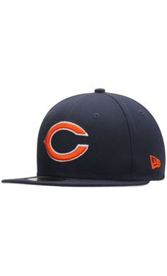e04adfdc4 NFL Men s Chicago Bears New Era Navy State Clip 59FIFTY Fitted Hat  travel  Cubs Hat