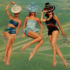 "Saatchi Online Artist Steven Quinn; Collage, ""3 giant women"" #art"