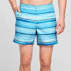 8ce15e554938a Goodfellow & Co Men's 6 Stripe Photo Shore Snap Swim Trunks - Goodfellow  &