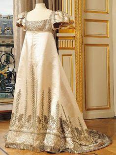 White Satin Dress, c.1790's