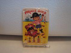 Vintage Vending Toy Gumball Prizes Charm Cracker Jack Pirate Gold Pinball Game | eBay