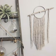 Crystal and driftwood wall hanging // bohemian wall hanging // boho dreamcatcher // large // fringe by MeadowandMoss on Etsy https://www.etsy.com/listing/263767460/crystal-and-driftwood-wall-hanging
