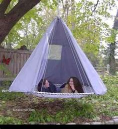 Cool outdoor bed.