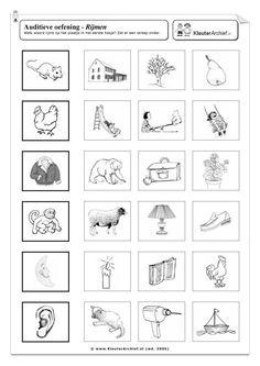 Rijmen: Printen Curriculum, Homeschool, Preschool Worksheets, Speech And Language, Pre School, Spelling, Literacy, Kindergarten, Teacher