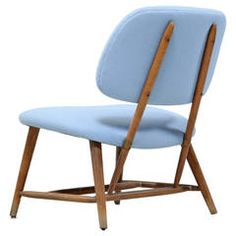 TV Chair by Alf Svensson in Powder Blue