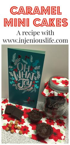 Caramel Mini Cakes - A Recipe and Teacher Gift Idea. #SendHallmark (ad)