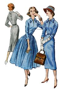 1950s Cocktail Day Career Dress w/ Slim by DesignRewindFashions, $14.00