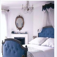 relaxing bedroom. Blue.