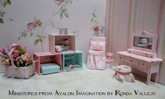 Shabby Chic Collection from Miniatures from Avalon Imagination by Ronda Vallejo
