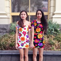 Having fun with Cali Sun & Fun floral prints with our employees in Australia! #AmericanApparel #spring