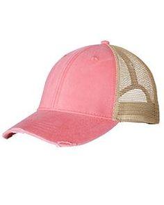 1eea45f6663e3 Coral Structured Mid-Profile Trucker Hat