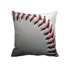 Baseball Pillow....im telling you i need a little boy to carry on my love of baseball soo i can have all this room decor stuff