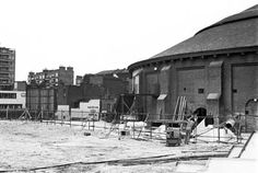 The Roundhouse building circa 1974.