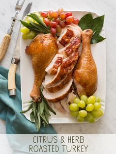 Citrus and Herb Roasted Turkey | spoonforkbacon.com