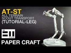 AT-ST (step by step tutorial-LEG) - YouTube Starwars, Paper Crafts, Youtube, Star Wars, Papercraft, Paper Crafting, Youtubers, Youtube Movies, Paper Craft