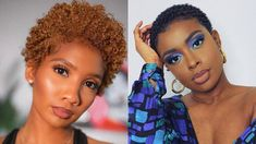 Most Inspiring Short Natural Hairstyles And Short Hair Ideas in 2020 Big Chop, Hair Videos, Natural Hairstyles, Black Women, Short Hair Styles, Hair Cuts, Nature, Color, Inspiration