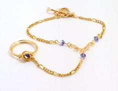 Ring Bracelet Combo | The combination of the slick style of the chain, with the youthful air ...