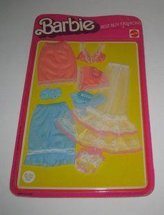 1975 Mattel Barbie Lingerie Assortment Best Buy Fashions 9163 MOC Lot#BG46