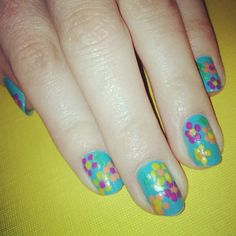 Office Nails - Flower Power (Taken with instagram)