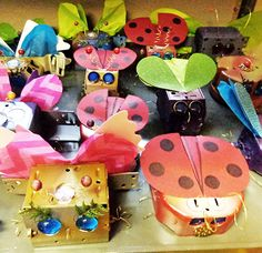 These beautiful bugs are all made out of hardware and supplies found at the Habitat Denver ReStores!