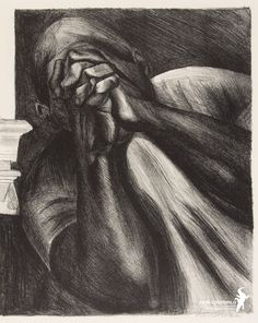 "Orozco, ""Grief,"" lithograph, From Jose Clemente Orozco (Mexico) Harlem Renaissance, Renaissance Artists, Diego Rivera, Jose Maria Velasco, Clemente Orozco, Art Quiz, Audre Lorde, Mexican Artists, California Art"