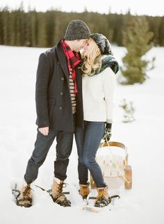 Vail Snowy Mountain Engagement – Style Me Pretty Winter Engagement Pictures, Engagement Photo Outfits, Engagement Session, Engagement Ideas, Engagement Photography, Engagement Inspiration, Engagements, Wedding Inspiration, Winter Family Photos