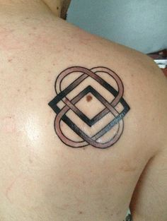 My first tattoo. It's the Celtic symbol for family and love