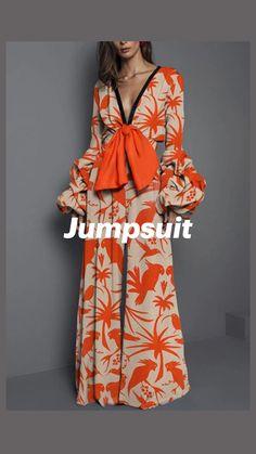 Floral Jumpsuit, Jumpsuit Outfit, Romper Pants, Halter Jumpsuit, Printed Jumpsuit, Collar Pattern, Neck Pattern, Pants Pattern, Jumpsuit With Sleeves