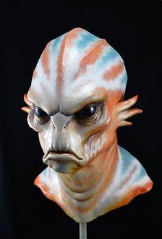 Latex Alien Mask by NoStudios on Etsy