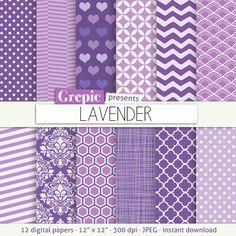 Lavender digital paper LAVENDER lilac purple digital by Grepic, $4.90  https://www.etsy.com/listing/182035137/lavender-digital-paper-lavender-lilac?ref=market