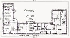 Richardson's Glessner house 2nd floor plan via Big Old Houses: Siege-Resistent AND Aesthetic | New York Social Diary