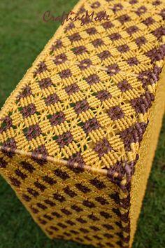 Macrame Basket Big Weaving basketRectangular by CraftingMode