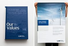 LM wind power posters, a beautiful clean simplistic print design Identity Design, Brand Identity, Branding, Solar Panel System, Panel Systems, Wind Power, Solar Power, Power Logo, Green Technology