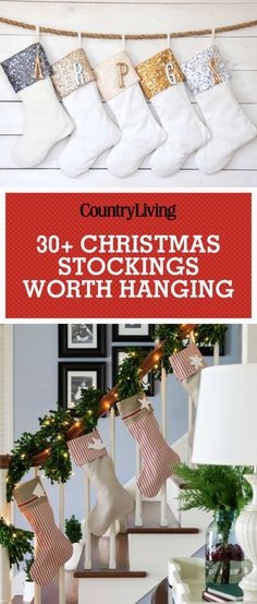 Deck your halls and mantels with these beautiful Christmas stockings this holiday season. Add adorable pom pom trim stockings to your mantel or personalized sequin and velvet stockings to make your home sparkle.