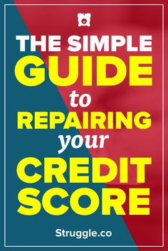 A bad credit score can ruin your life. Everybody goes through tough times, but at some point you need to fix your credit score. Here is a guide to show you the steps you can take to improve your credit score. Check Your Credit Score, Good Credit Score, Improve Your Credit Score, Fix Bad Credit, How To Fix Credit, Build Credit, Rebuilding Credit, Credit Bureaus, Credit Report