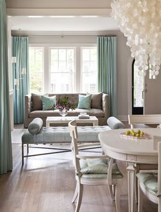 Living Room of Palm residence, designed by Bear Hill Interiors Living Area, Living Room Decor, Living Spaces, Living Comedor, Hill Interiors, Design Blogs, Design Ideas, Blue Rooms, House Colors