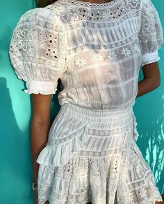 Golden hour eyelet love in our new Augustine dress 🤍🤍🤍 Indian Fashion, Korean Fashion, Party Frocks, Fashion Tips For Girls, Fashion Collage, A Line Skirts, Dress Collection, Spring Fashion, Cool Style