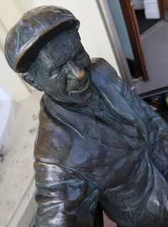 Norman Wisdom's statue at Norman's Bar at the Sefton Hotel on October 22 2010 in Douglas Isle Of Man Norman Wisdom, Isle Of Man, Clowns, Comedians, October, Statue, Actors, Bar, Comics