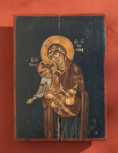 """Byzantine icon of """"Holy Mary and the Christ"""" Greek Icons, Byzantine Icons, Holy Mary, Orthodox Icons, Great Love, Holi, Christ, Hand Painted, Unique"""