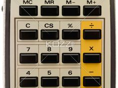 cropped image of a calculator. - Close-up cropped shot of push buttons of a calculator.