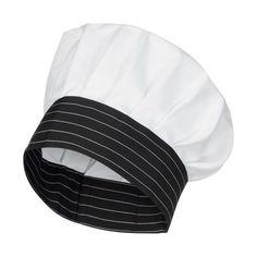 Gorro de cocinero blanco con adorno de rayas feee27ce71a