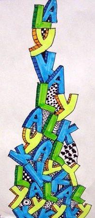 Artsonia Art Museum :: Artwork by Kyla812  name stacks