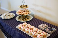 Baseball baby shower- Dessert table