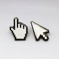 Cursor-Emaille-Pins von strikegentlyco auf Etsy