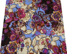 Description  * Blue colour cotton voile sewing fabric. * Beautiful floral print in shades of brown, pink and beige colour all over the fabric. * Fabric