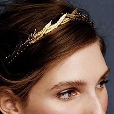 J.Crew Jennifer Behr Eris Headband in blackened gold